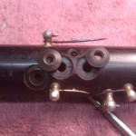 Riparazione chiusura crepa trilli su oboe in ebano