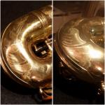 Sax Ammaccato - Riparazione sollevamento ammaccatura culatta campana