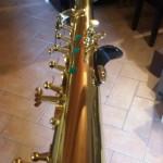 Raddrizzare fusto sax soprano imbananato, piegato e curvato