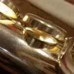Mettere Mi snodato in argento su flauto Muramatsu professionale
