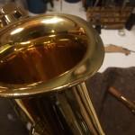 Riparare ammaccatura sax nella campana